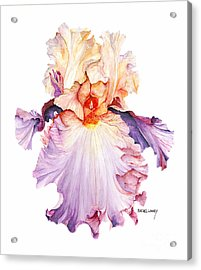 Floating Iris 2 Acrylic Print by Rachel Lowry