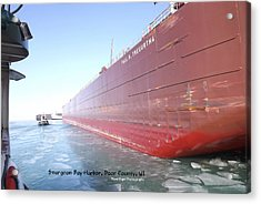Floating Iron Acrylic Print by Dave Pape