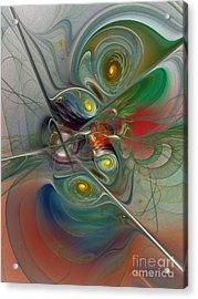 Floating Lightness-abstract Art Acrylic Print by Karin Kuhlmann