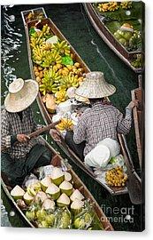 Floating Market  Acrylic Print