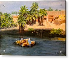 Floating On The Nile Acrylic Print