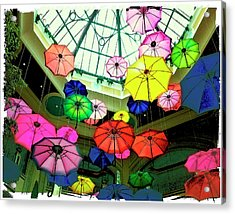 Floating Umbrellas In Las Vegas  Acrylic Print