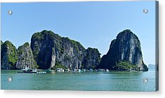Floating Village Ha Long Bay Acrylic Print