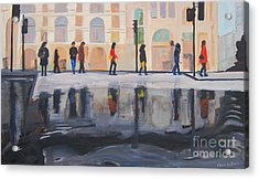 Flood In The City Acrylic Print