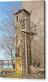 Flood Stage Gauge Acrylic Print by Betsy Knapp