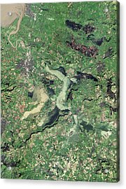 Flooded Somerset Levels Acrylic Print by Nasa