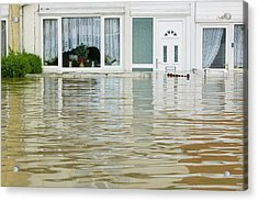 Flooding In Toll Bar Acrylic Print by Ashley Cooper