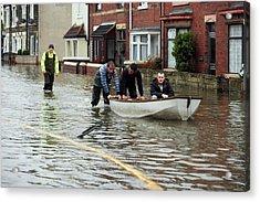 Flooding Acrylic Print by Mark Sykes