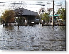Flooding Of Stores And Shops In Bangkok Thailand - 01134 Acrylic Print by DC Photographer
