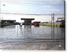Flooding Of Stores And Shops In Bangkok Thailand - 01139 Acrylic Print by DC Photographer