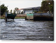 Flooding Of The Streets Of Bangkok Thailand - 01133 Acrylic Print by DC Photographer