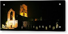 Floodlit Fountains Abbey Acrylic Print