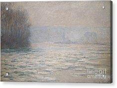 Floods On The Seine Near Bennecourt Acrylic Print by Claude Monet