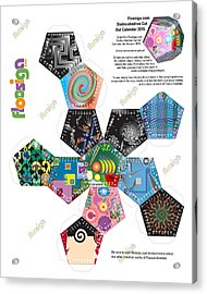 Floosiga Dodecahedron Cut Out Calendar 2015 Acrylic Print by Francis Koerber