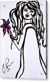 Flor De Amber Acrylic Print by Chrissy  Pena