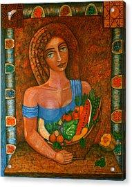 Flora - Goddess Of The Seeds Acrylic Print