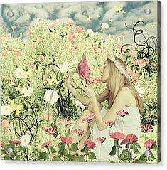 Flora Acrylic Print by Linda Lees