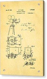 Flora Zoom Cinema Camera Patent Art 1931 Acrylic Print by Ian Monk