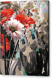 Floral 5 Acrylic Print by Mahnoor Shah