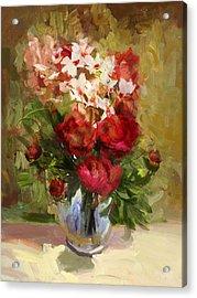 Floral 9 Acrylic Print by Mahnoor Shah