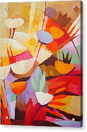 Floral Abstraction Acrylic Print by Lutz Baar