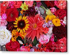 Acrylic Print featuring the photograph Floral Bounty by Jeanette French