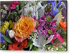 Floral Bouquet 6 Acrylic Print by Sharon Talson