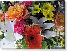 Floral Bouquet 7 Acrylic Print by Sharon Talson