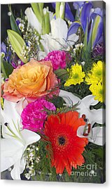 Floral Bouquet Acrylic Print by Sharon Talson