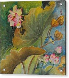 Floral Breeze Acrylic Print