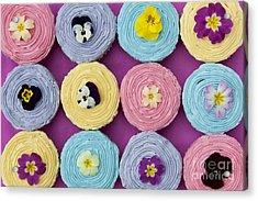 Floral Cupcakes Acrylic Print