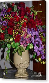 Floral Decor Acrylic Print by Kathleen Struckle