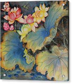 Floral Dragon Fly Acrylic Print