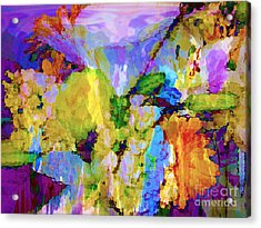 Floral Dreamscape Acrylic Print by Ann Johndro-Collins