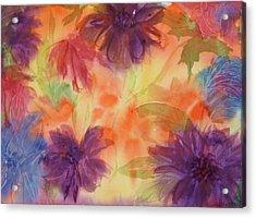 Floral Fantasy Acrylic Print by Ellen Levinson