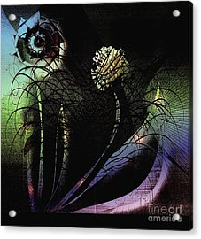 Floral Fever Acrylic Print by Iris Gelbart