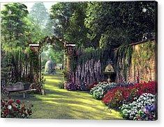 Floral Garden Acrylic Print by Dominic Davison