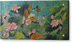 Floral Green 2 Acrylic Print