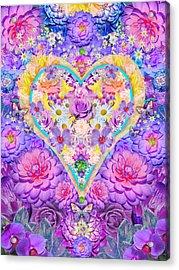 Floral Heart Springtime Acrylic Print
