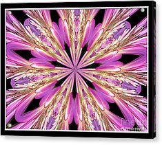 Floral Kaleidoscope  Waterlily Acrylic Print by Rose Santuci-Sofranko