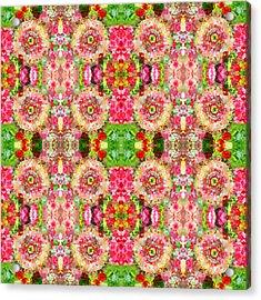 Floral Kitsch Acrylic Print by Sumit Mehndiratta