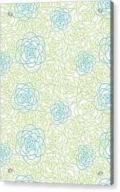Floral Lines Acrylic Print by Susan Claire