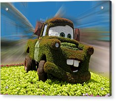 Floral Mater Acrylic Print by Thomas Woolworth