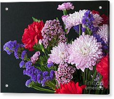 Floral Mix Acrylic Print by Ann Horn