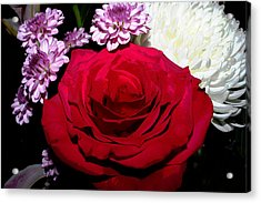 Floral Arrangement - Posterized Acrylic Print by Ron Grafe