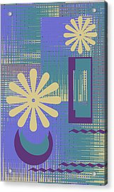 Floral Still Life In Purple Acrylic Print by Ben and Raisa Gertsberg
