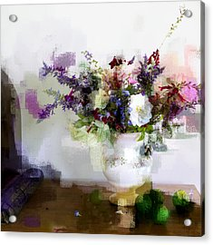 Acrylic Print featuring the photograph Floral Still Life II by Linde Townsend