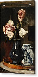 Floral Still Life Acrylic Print by Roderic O Conor