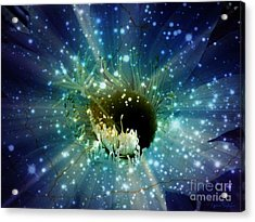 Floral Stratosphere Acrylic Print