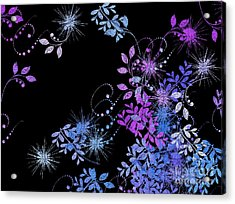 Floralities - 02a Acrylic Print by Variance Collections